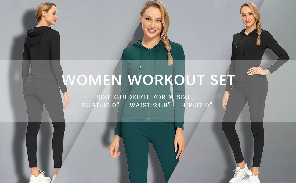 2 Piece Outfits for Women Sweat Suits Set Fall Long Sleeve Crop Tops Sweatpants Tracksuits