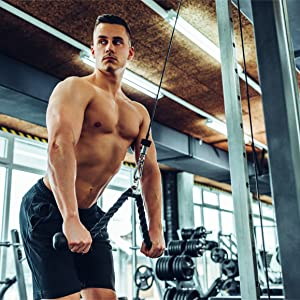 triceps rope biceps pull down pulldown rope gyms fitness pulls face push extension press crunch curl