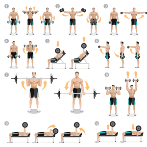 Home gym equipment: you have multiple options for exercises with this dumbbell set.