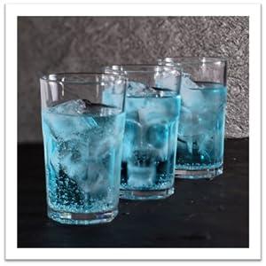Alien ice in three glasses
