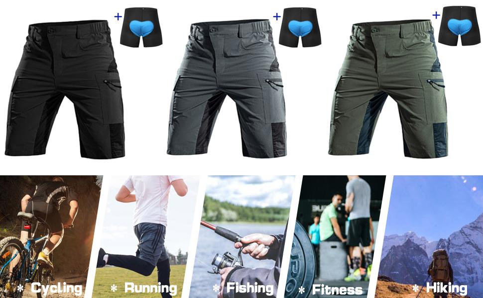 Push Sports Mens Baggy MTB Cycling Shorts //// Mesh Liner //// Black //// Small
