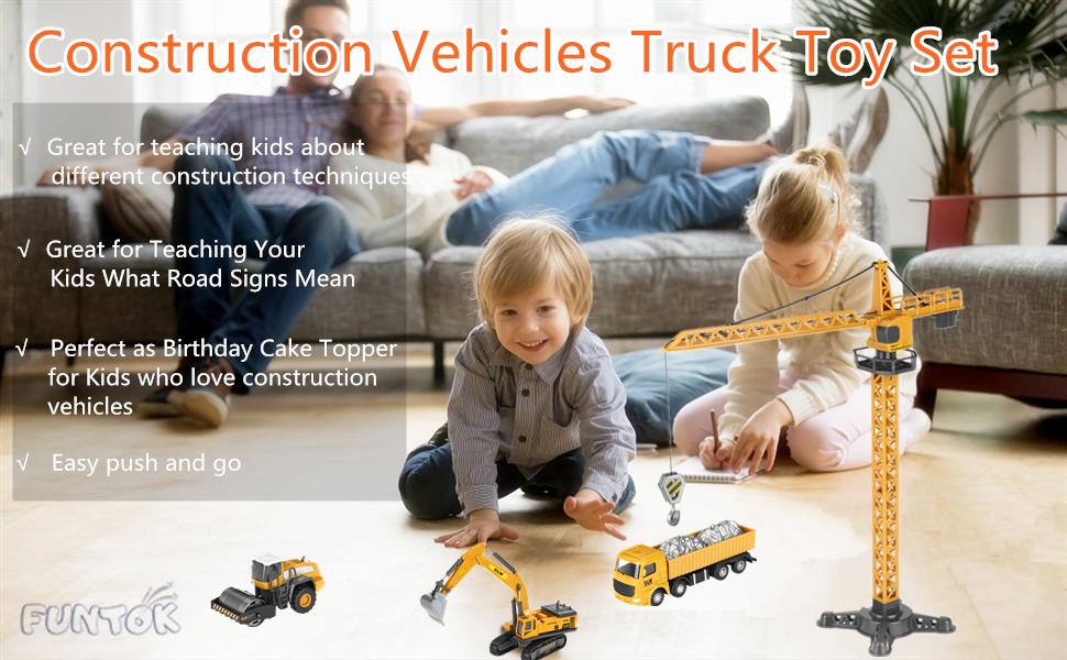 Construction Vehicles Truck Toy Set