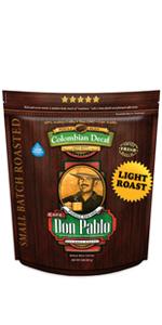 2LB Don Pablo Colombain Decaf light roast
