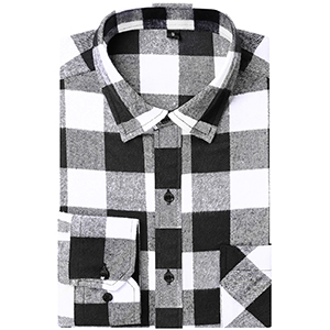 DOKKIA Camisa de franela de manga larga para hombre, diseño de cuadros