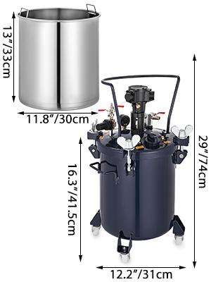 8 gallon print gekleurde pot