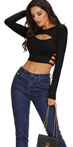Sexy Hollow Out Crop Top