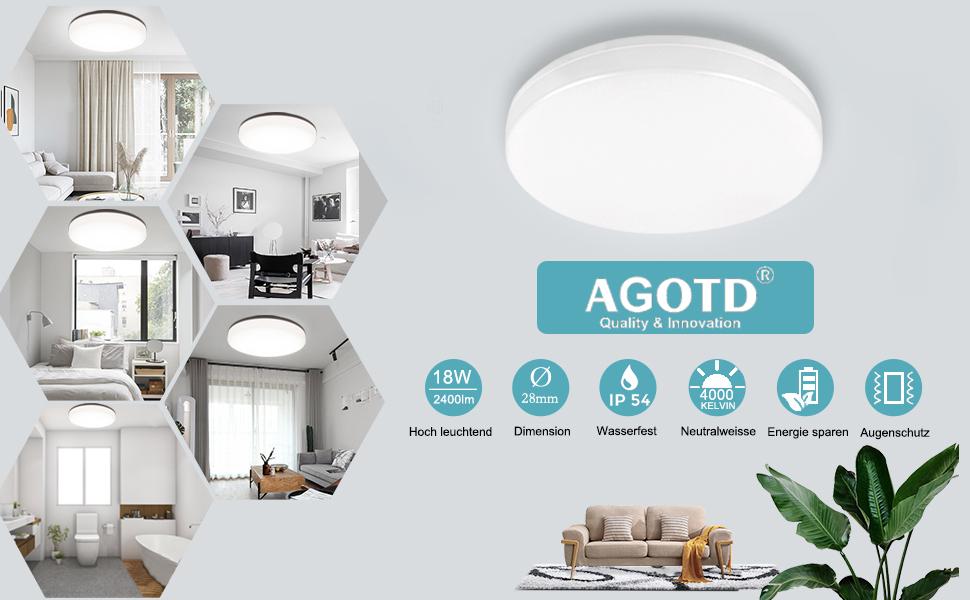 4000 K LED plafondlamp