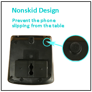 wall mountable function big button corded phone is easy for seniors to use