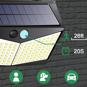 solar flood light outdoor with motion sensor