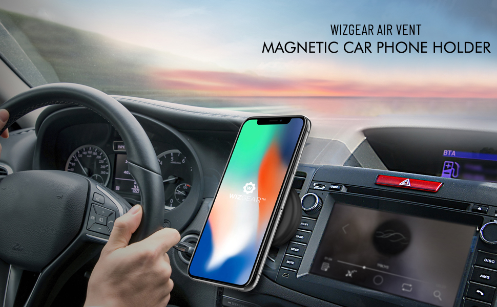 cell phone holder for car wizgear magnetic mount car phone mount magnetic car mount phone holder