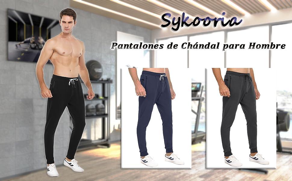pantalones largos deportivos para hombre casual de algodón