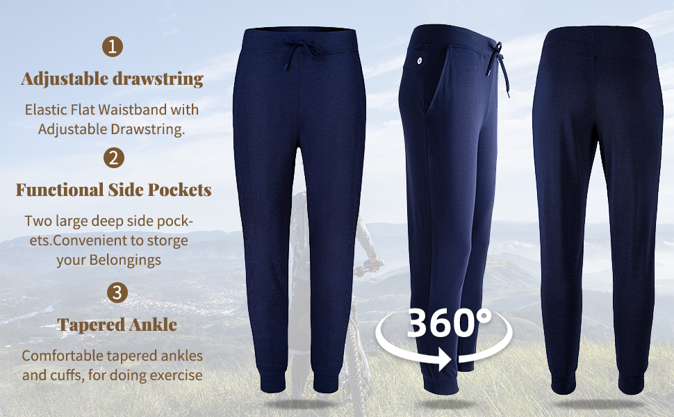 5.Night pants made from bamboo viscose fabric, breathable and lightweight