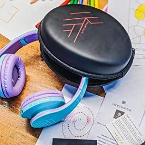 Tragetasche Kopfhörer, Bluetooth-Kopfhörer, drahtlose Kopfhörer für Kinder, Kopfhörer für Kinder