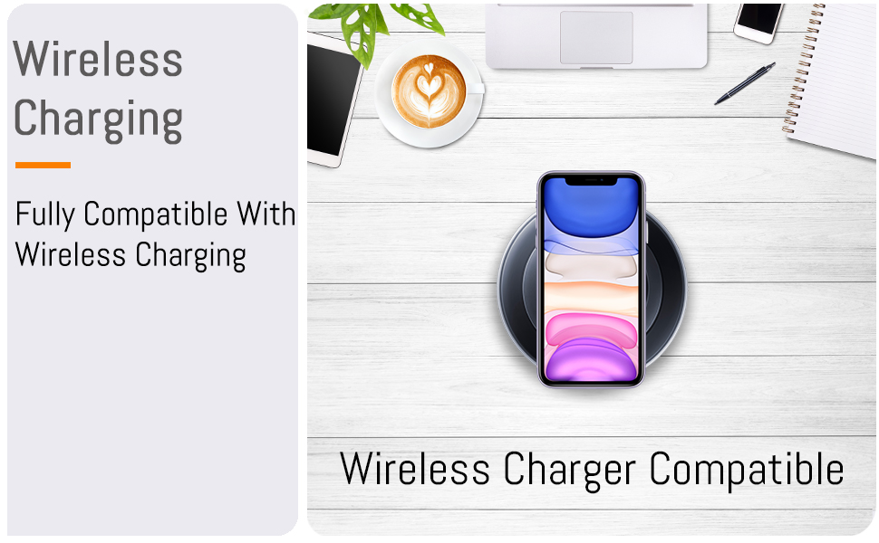 """iPhone 11 Pro 5.8"""" inch full fully compatible wireless charging compatible case cover"""