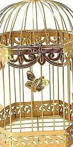 Metal Bird Cage Set