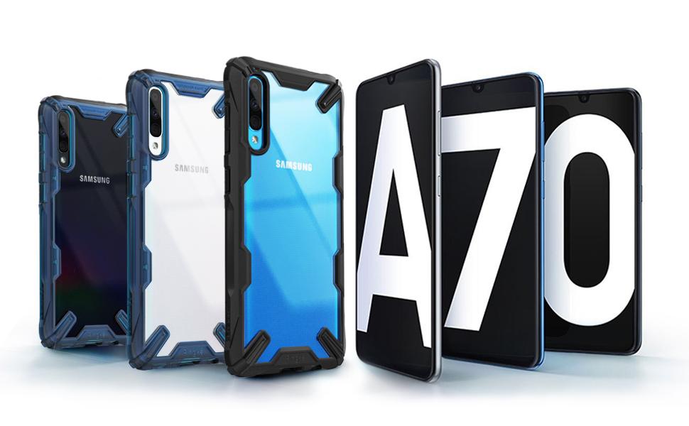 """Ringke Fusion-X Σχεδιασμένο για κάλυμμα τεχνολογίας Galaxy A70 Shock Absorption Technology Cover (6,7 """")"""