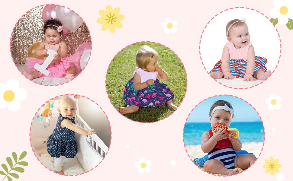 Girls Flutter Sleeve Dress Baby Girl Boutique Clothing Girls 6-9 Months Dress Clothes Set