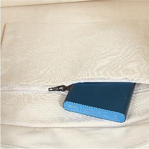 Inside zipper pocket