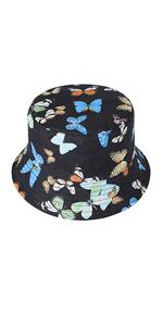 Cappello a secchiello farfalla