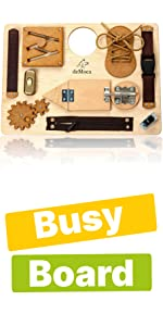 montessori toys for toddlers board wood wooden busy activity sensory travel child toddlers kids