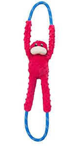 Red Monkey RopeTugz Toy