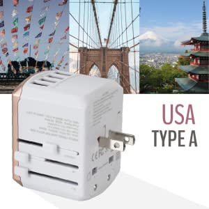 DANDELION Plug socket shape type A B United States of America USA Mexico Japan New York Vietnam