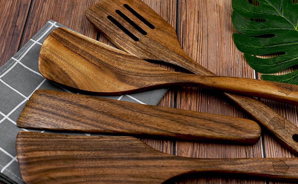 spatula spoon, wood turner, cooking utensils set wooden, rice spatula, espatulas de madera, cocinar