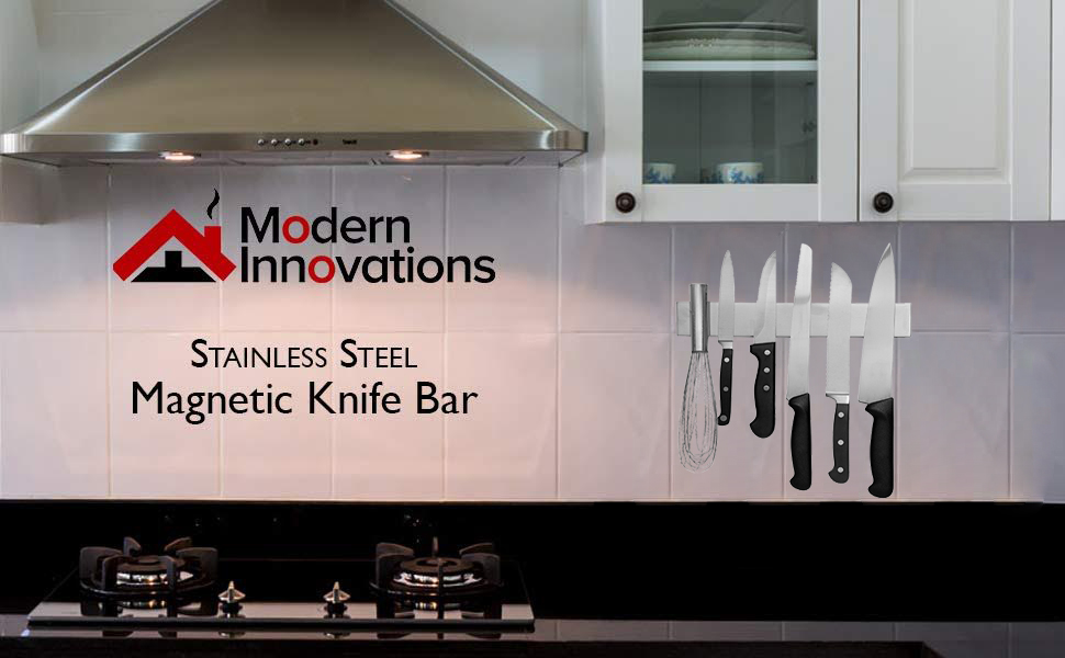 10 Inch Stainless Steel Magnetic Knife Bar with Multipurpose Use as Knife Holder, Knife Rack, Knife