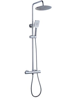 Elbe Columna de ducha termostática, Sistema de ducha con cabeza de ...