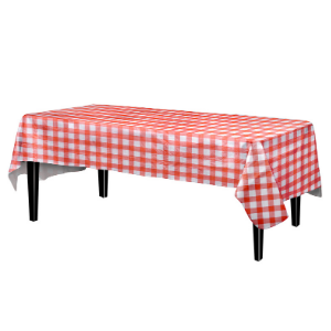 Amazon Com Exquisite Flannel Backed Vinyl Tablecloths Solid Color Premium Quality Waterproof Table Cover 54 Inch X 108 Inch Red Gingham Checkerboard Home Kitchen
