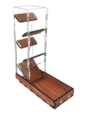 c4labs tall dice tower classic tray tabletop game rolling gunstock