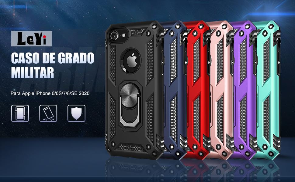 LeYi Funda iPhone SE 2020/6 / 6S / 7/8 Armor Carcasa con 360