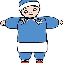blue color block full sleeve regular kids dress fancy baniyan blazer biker pure wollen warm body