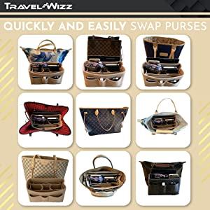 purse organizer insert handbag for women brand bag tote neverfull mm  lv makeup bag clutch cosmetic