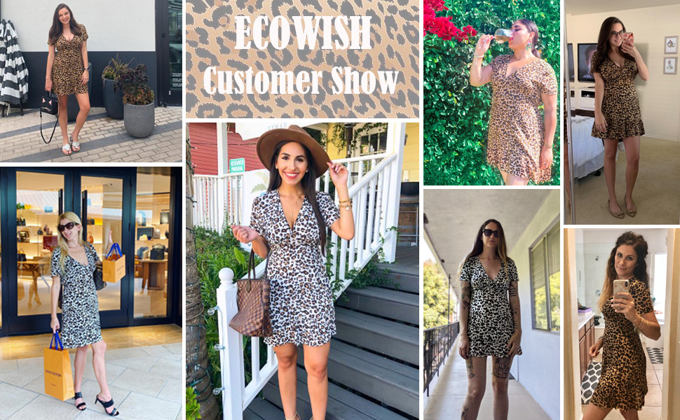 fashion leopard dress