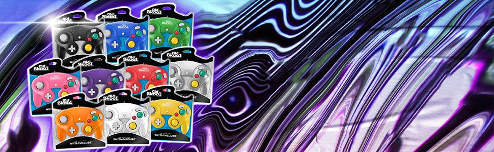 Old Skool Retro Gaming Gamecube Wii Controller nintendo Gamer Console Classic  Hyperkin Cirka