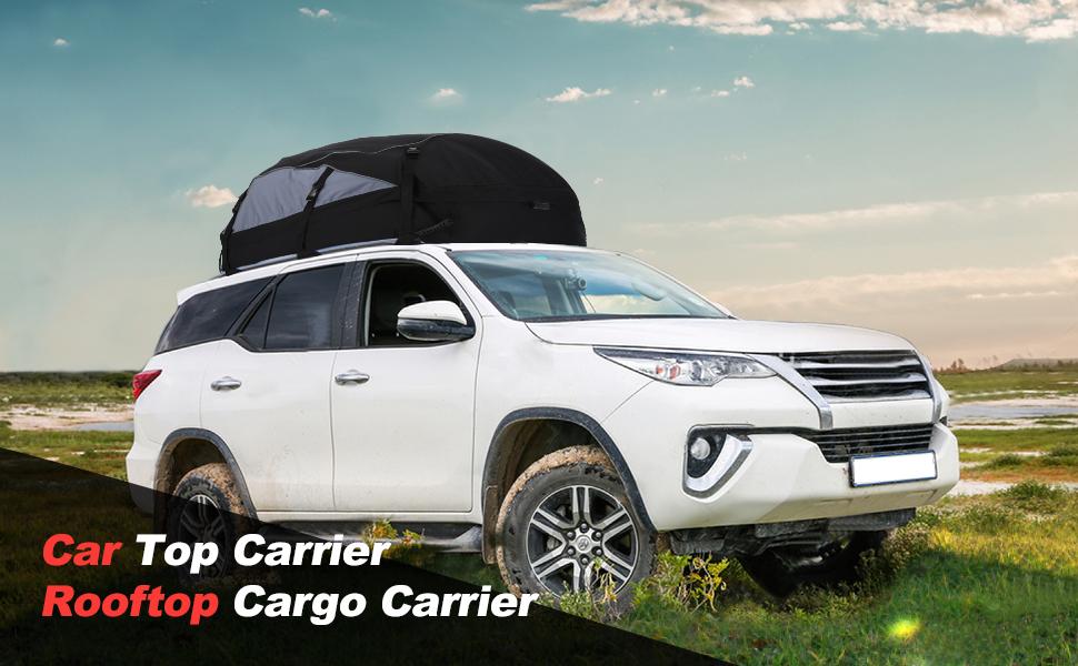 Car Top Carrier 20 Cubic Feet Waterproof Cargo Carrier Heavy Duty Traps Rooftop Cargo Carrier for All Vehicles Cargo Bag Box Storage Luggage