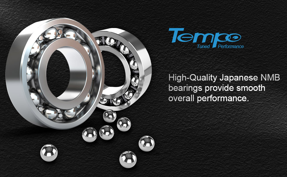 Japanese NMB spool bearing produce consitent, long casts