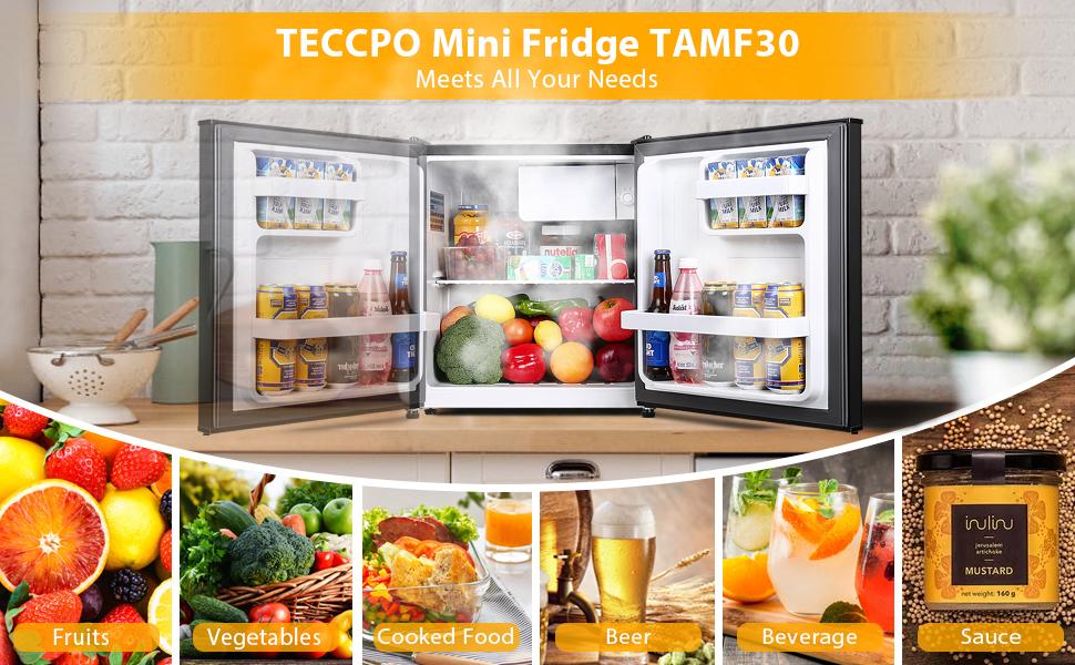 compact refrigerator Small fridge mini freezer dorm apartment kitchen office energy-saving