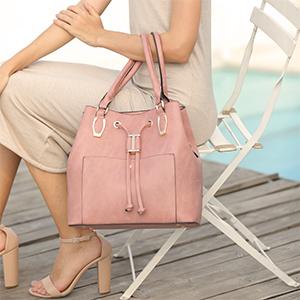 Pink Hobo Tote Handbags Luxury Designer