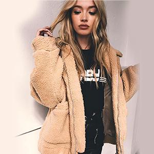 baggy long sleeve fleece jacket