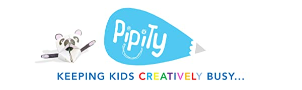 Pipity Logo. paper crafts, colouring, drawing, doodling activities for kids