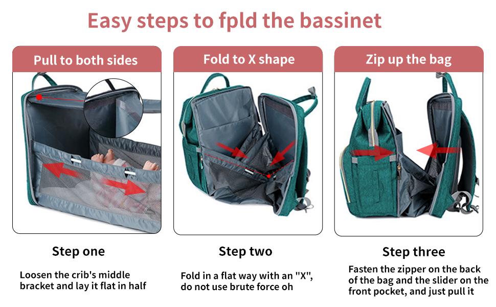 convertible diaper bag