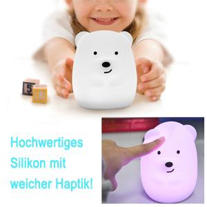 9 Farbwechsel Baby-Stilllampe Augenpflege Color : B/är SHENMU Weiches Nachtlicht Kinder Baby Nachtlampe Mit Touch Schalter /& Fernbedienung Kinderzimmerlampe Mit Interner Wiederaufladbarer Akuu