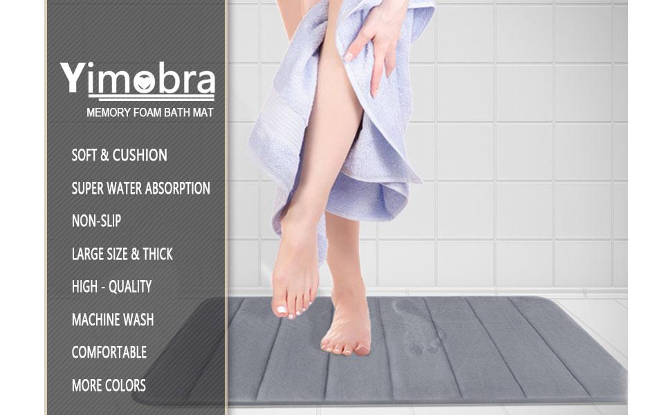 Amazon.com: Yimobra Memory Foam Bath Mat Large Size 36.2 x 24