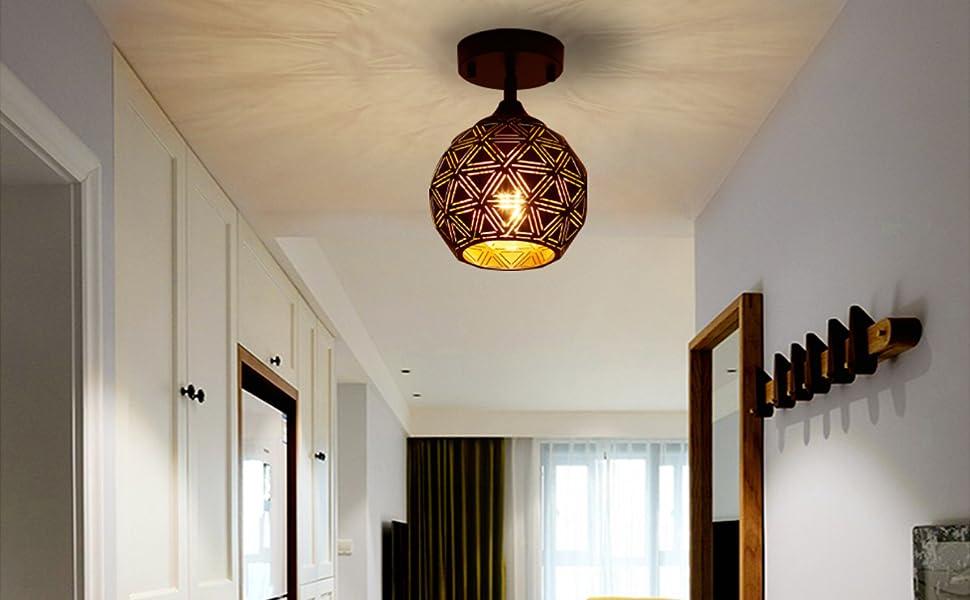 industrial metal ceiling light