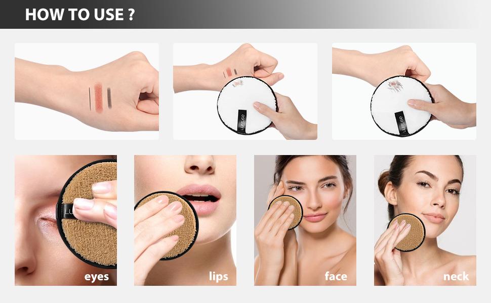Lurrose Reusable Makeup Removal Pads 9