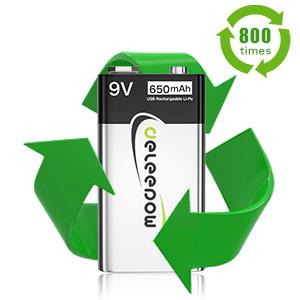 usb rechargeable 9v batteries