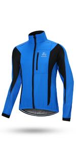 OUTON Veste Cyclisme pour Homme Coupe-Vent Veste De V/élo Fleece Thermique imperm/éable /à leau Respirant R/éfl/échissant Running V/êtement pour Cyclisme VTT