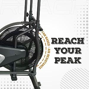 fan wheel reach iconic air bike
